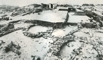 The area of Su Murru Mannu during the excavation (E. Acquaro, Tharros-VIII. Lo scavo del 1981, in RSF, X, 1, 1982, tav. XXI).