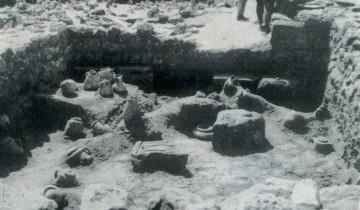 Scavi degli anni '60 (G. Pesce, Tharros, Cagliari 1966).