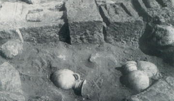 Excavations of the '60s (G. Pesce, Tharros, Cagliari 1966).