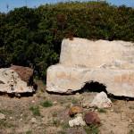 Tombe romane nel fossato di Su Murru Mannu.