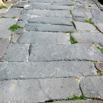 Detail of a paved road.