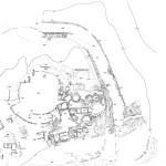 Pianta delle strutture di Su Murru Mannu (da F. Barreca, La civiltà fenicio-punica in Sardegna, Sassari 1986, fig. 13 bis).
