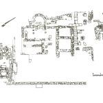 Pianta del battistero e dell'edificio chiesastico (da R. Zucca, Tharros, Oristano 1993, p. 119).