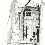 Pianta del cd. tempio delle semicolonne doriche (da G. Pesce, Sardegna punica, Cagliari 1961, fig. 13).