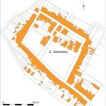 Planimetria del villaggio di San Salvatore (da A. Mori, Centri religiosi temporanei e loro evoluzione in Sardegna, Studi Sardi, X-XI (1951), 1952, p. 397, fig. 4).