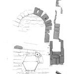 Pianta del battistero (da R. Zucca, Tharros, Oristano 1993, p. 119).