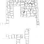 Pianta della torre quadrata delle fortificazioni di S. Giovanni (da D. Giorgetti, Tharros-XVIII-XIX, in Rivista di Studi Fenici, XXI, 2, 1993, fig. 1).